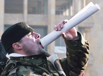 20.000 PROSVJEDNIKA  Čelnik oporbe Levan Gačečiladze ne miri se s izbornim porazom, a jučer ga je na ulicama Tbilisija podržalo 20.000 ljudi.