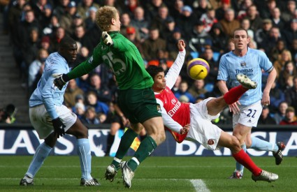 Eduardo da Silva protiv Manchester Cityja postigao je jedan od najljepših pogodaka prošlog kola u Premiershipu
