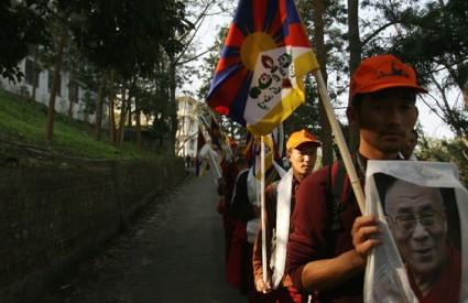 Prosvjednici su odlučni u svom naumu da dođu do Tibeta