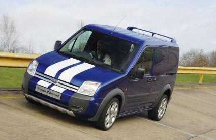 Novi Ford je plave boje s dvije bijele uzdužne linije