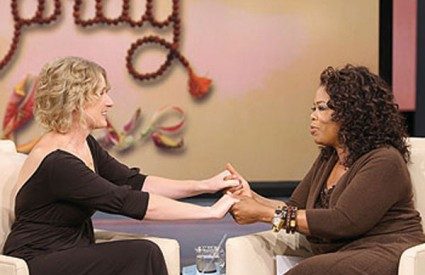 Elizabeth Gilbert gostovala je kod popularne Oprah Winfrey nekoliko puta i osvojila srca gledatelja svojom karizmom, otvorenošću i vedrinom