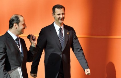 Bashar al-Assad na odlasku sa summita Mediteranske Unije
