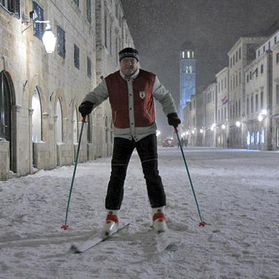 skijanje na stradunu