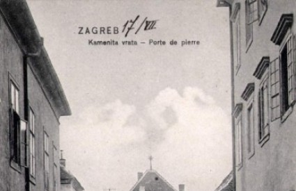 Stara razglednica zagrebačkih Kamenitih vrata