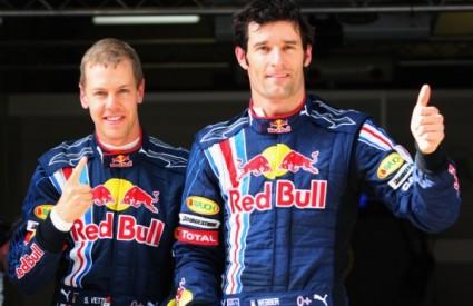 Red Bullovi vozači u prvom redu