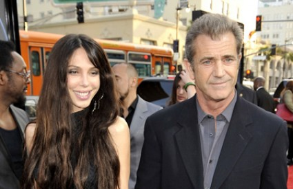 Mel i Oksana na premijeri filma Wolverine u travnju