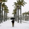 Snijeg prekrio Pisu, Firencu i Barcelonu