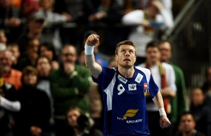Gudjon Valur Sigurdsson (Island) slavi pogodak