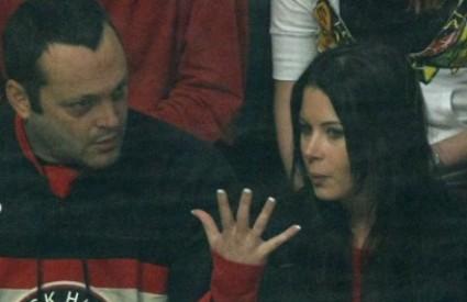 Vince i Kyla na hokejaškoj utakmici prošle godine