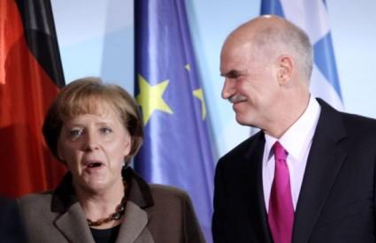 njemačka kancelarka Angela Merkel i grčki premijer Georgij Papandreu