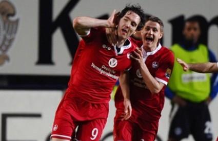 Srđan Lakić i Ivo Iličević slave pobjednički gol Kaiserslauterna