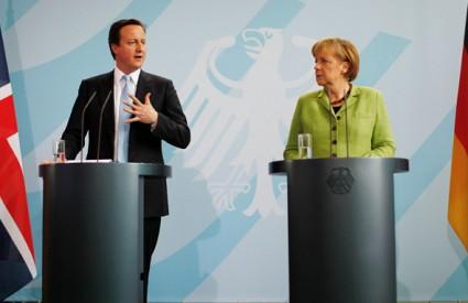 David Cameron Angela Merkel euro