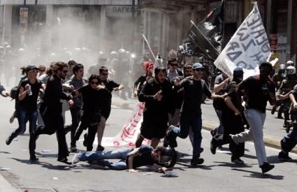 Grčki prosvjednici