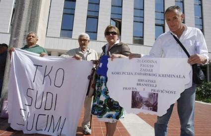 HAKO prosvjed Županijski sud