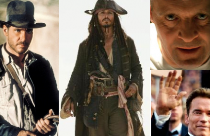 Johnny Depp Harrison Ford Arnold Schwarzenegger Anthony Hopkins