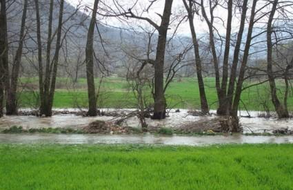 Poplavljeno područje je manje