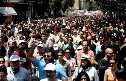 Grci na prosvjedima