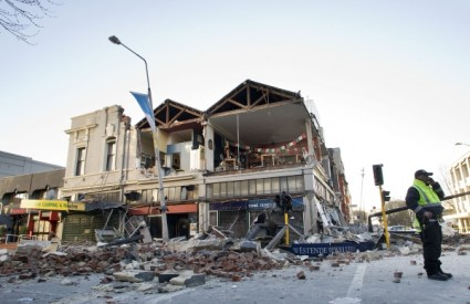 Posljedice razornog potresa koji je pogodio grad Christchurch