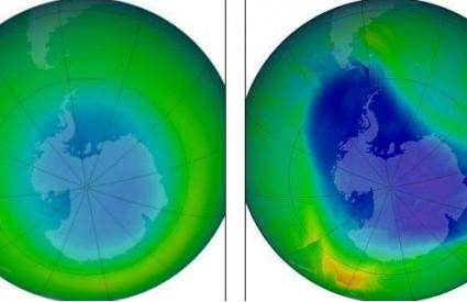 Ozonski omotač 1980. i danas