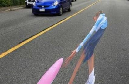 Optička iluzija tjera vozače na sporiju vožnju