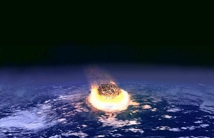 K-T eksplozija kako ju vidi umjetnik