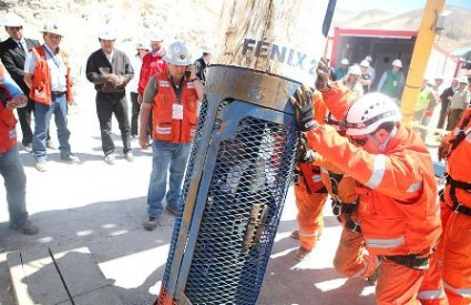 Čile, spašavanje rudara