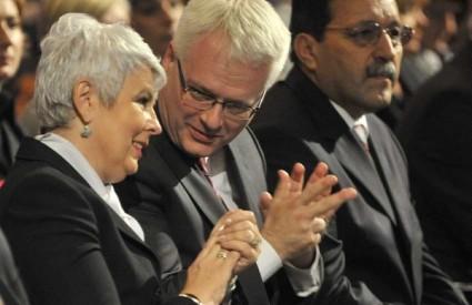 Ivo Josipović i Jadranka Kosor