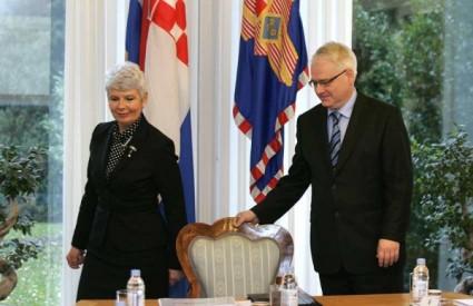 Jadranka Kosor i Ivo Josipović