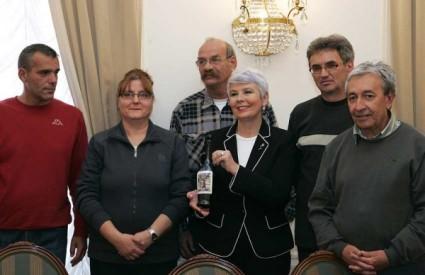 Jadranka Kosor s radnicima Željezare