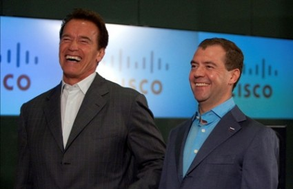 Schwarzenegger i Medvedev