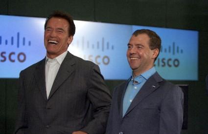 Medvedev i Schwarzenegger u Moskvi