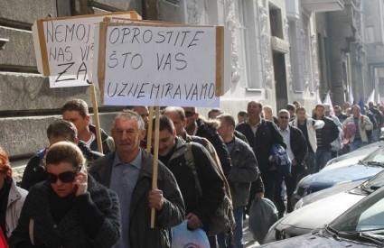 Radnici splitske Željezare prosvjeduju u Zagrebu