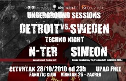 Detroit Techno & Swedish Techno Night u Fanaticu