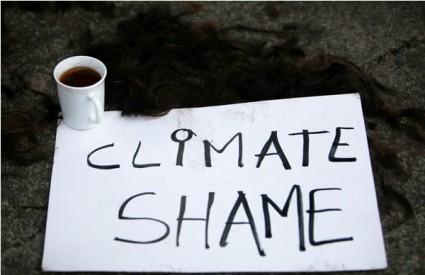 U Kopenhagenu 2009. prosvjednici su obrijali glave u znak protesta protiv licemjerja sudionica summita o klimatskim promjenama
