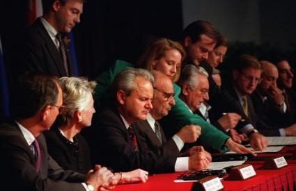 Potpisivanje Daytonskog sporazuma 1995. godine