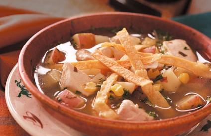 Pileća juha s tortiljama