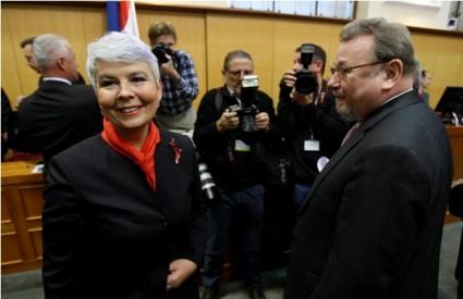 Jadranka Kosor i Vladimir Šeks