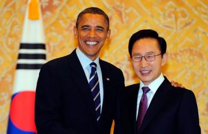 Obama i Myung-bak