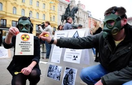 Prosvjed protiv radioaktivnog otpada u Zagrebu