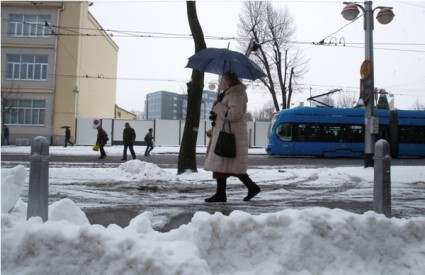Snijeg u Zagrebu