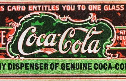 Kupon za besplatnu Colu, služio je za promociju pića. Circa 1888.