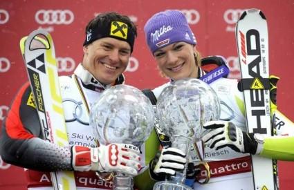 Ivica Kostelić i Maria Riesch, ukupni pobjednici Svjetskog kupa