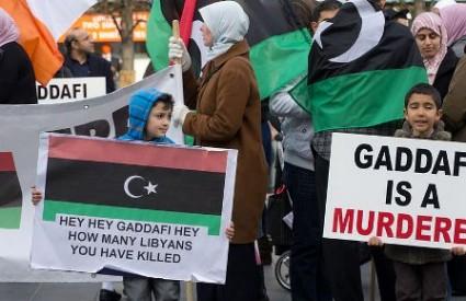 Prosvjed protiv Gadafija
