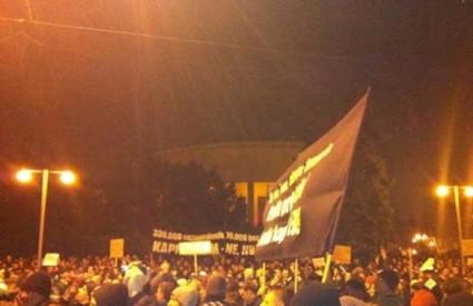 Prosvjednici u Zagrebu