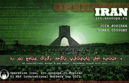 Anonymous rastura iranski web