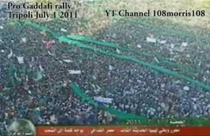 Fascinantna količina ljudi podržava Gadafija