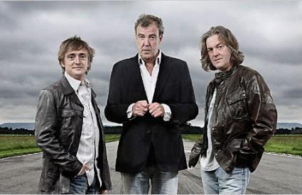 voditelji Top Geara, James May, Jeremy Clarkson, Richard Hammond,