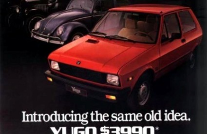 10 najgorih automobila, Yugo, plakat u SAD-u, Wikipedia
