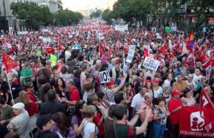 Deseci tisuća na ulicama španjolskih gradova