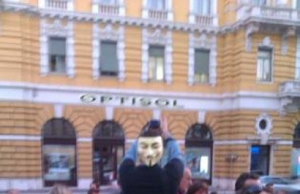 Maska Guya Fawkesa u Rijeci